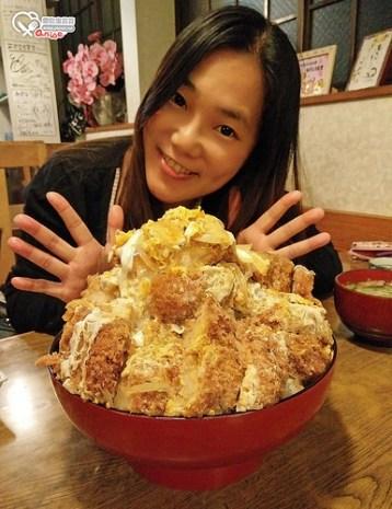 福島縣白河市.あすなろ食堂,5倍超巨大豬排丼、蛋包飯,不只是大,還超級好吃!