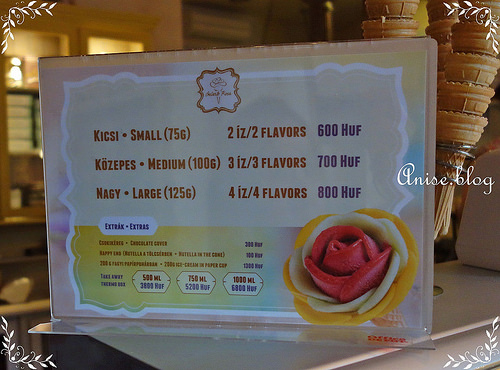 布達佩斯美食.花朵般美麗的Gelarto Rosa冰淇淋,tripadvisor布達佩斯甜點排名No.2!