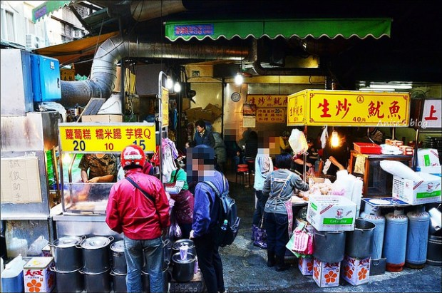 板橋黃石市場生炒魷魚蘿蔔糕糯米腸DSC_1567