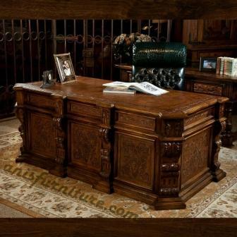 meja kantor ukiran