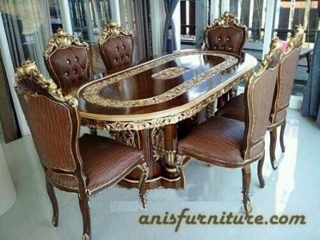 meja makan jati ganesa
