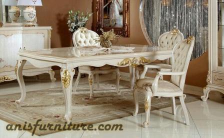 meja makan jati duco