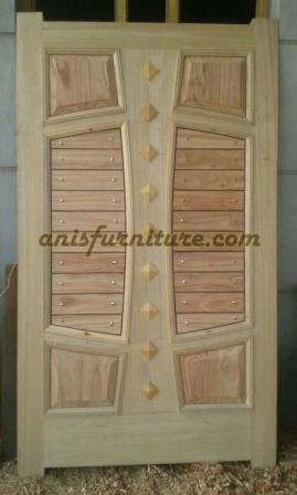 pintu jati model niple