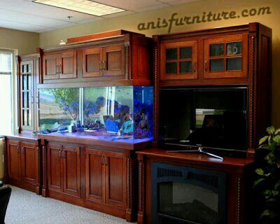 bufet jati untuk aquarium