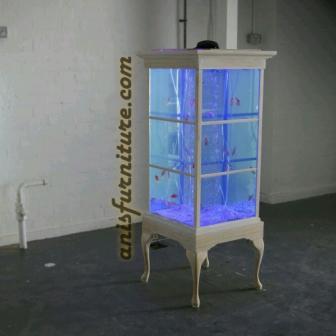 lemari aquarium kayu