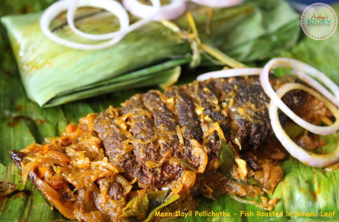 Meen Ilayil Pollichathu - Fish Roasted in Banana Leaf