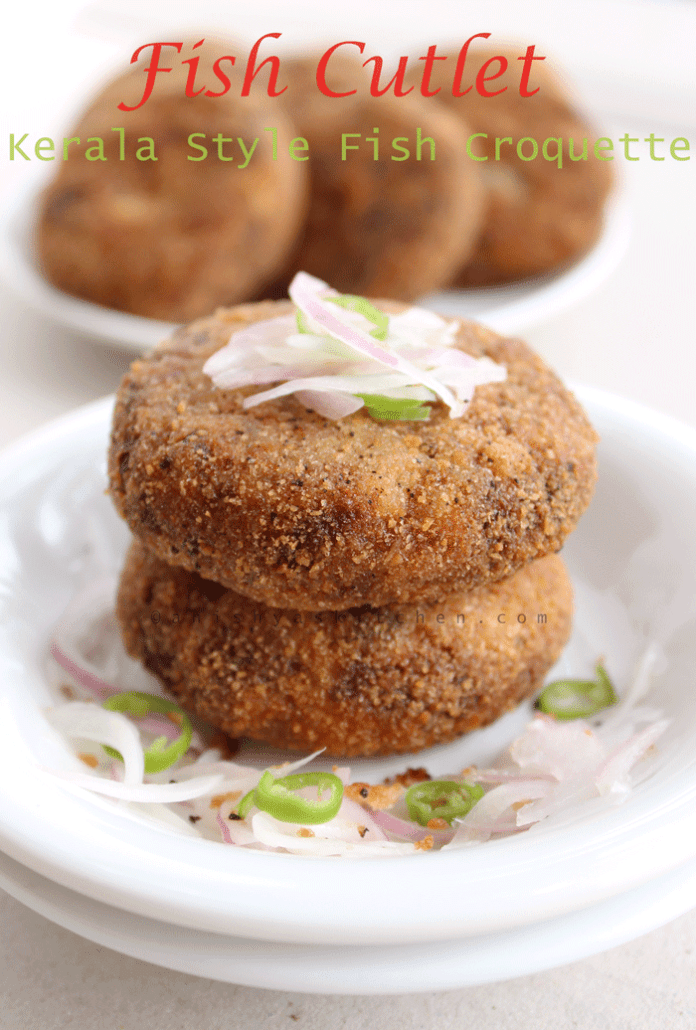 Kerala Style Fish Cutlet - Fish Croquette