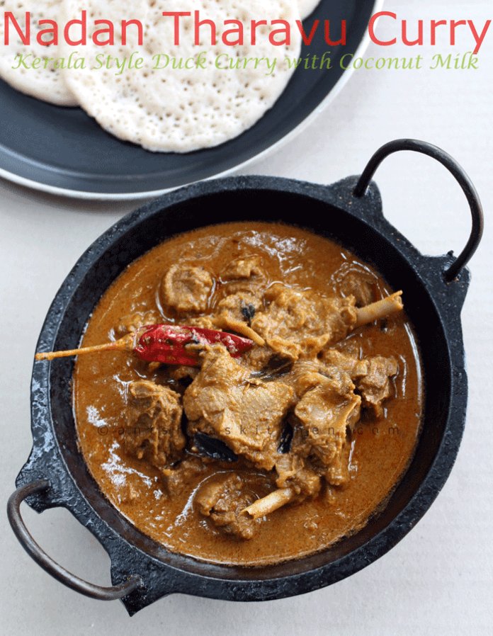 Nadan Tharavu Curry - Kerala Style Duck Curry