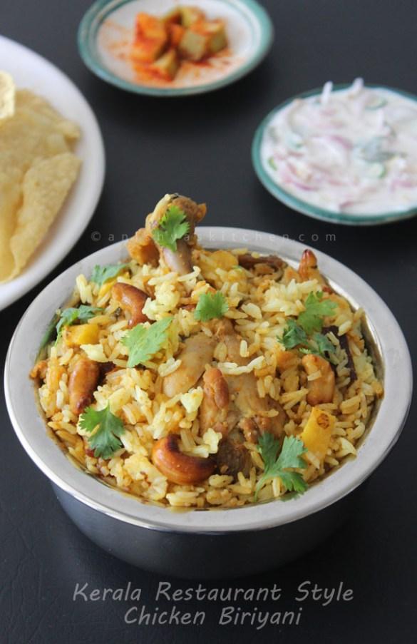 Kerala Restaurant Style Chicken Biriyani Recipe - Kozhi Biriyani