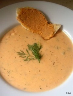 Chilled Salmon Soup