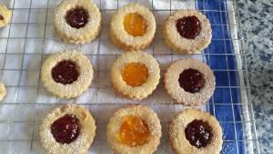 Mixed Jam Linzer biscuits