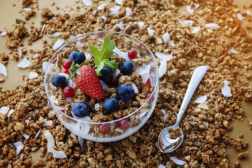 Home made Granola and Berries