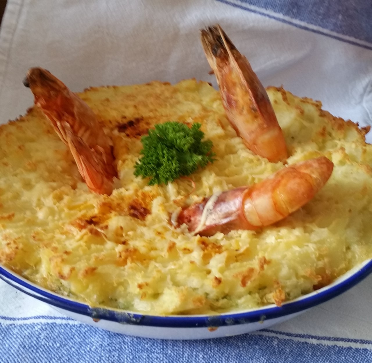 Fish Pie  – My Luxury Seafood Pie with Scallops and Prawns.