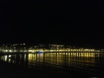 La Concha beach at night