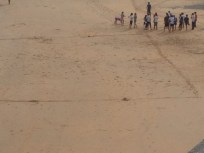 Beach soccer--strategy session