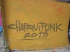 signature of street artist Charquipunk