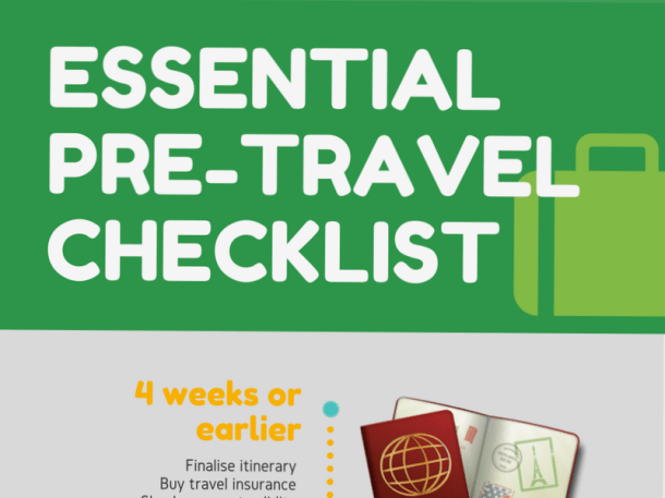 Pre Travel Checklist promo - Travel Tools
