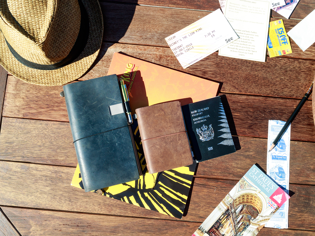 Regular size and passports size - The Ultimate Travelers Notebook (and how to use it)