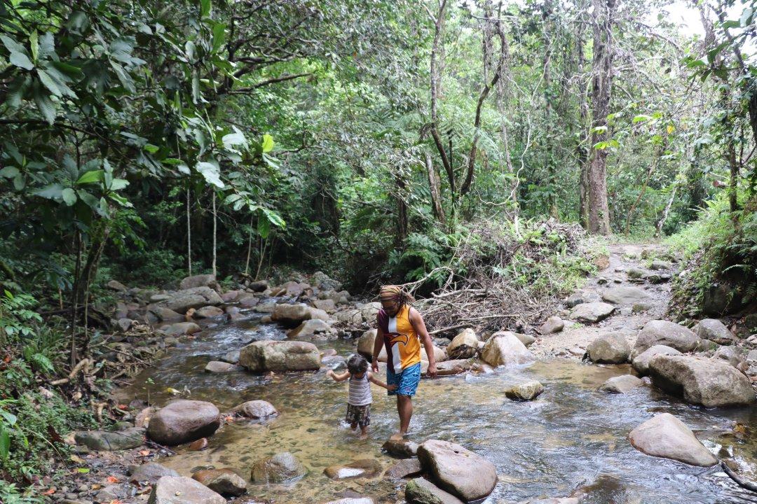 water falltrek - Traveller's Tales | Ariana's Fiji Family Adventure