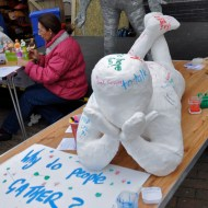 'Why do people Gather?' The Gathering series - life size adult figure for community responces