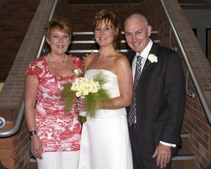 Sharon, Julie  and Mark - My New Cousins
