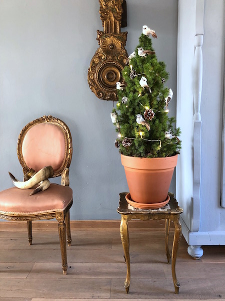 kersthuis, miniboompje