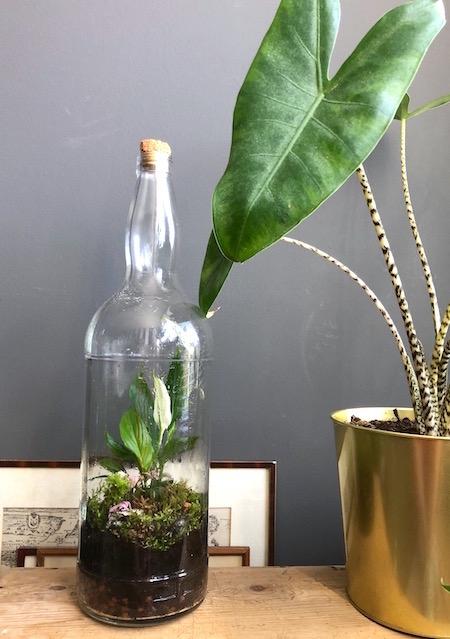 fles en gouden pot