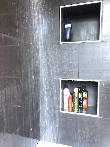 groene badkamer douche