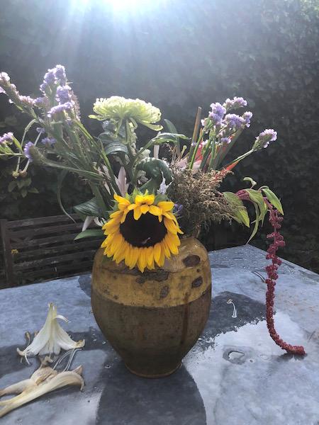 nazomeren met bloemen