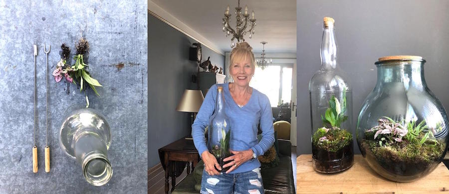 collage-dichte fles kopie