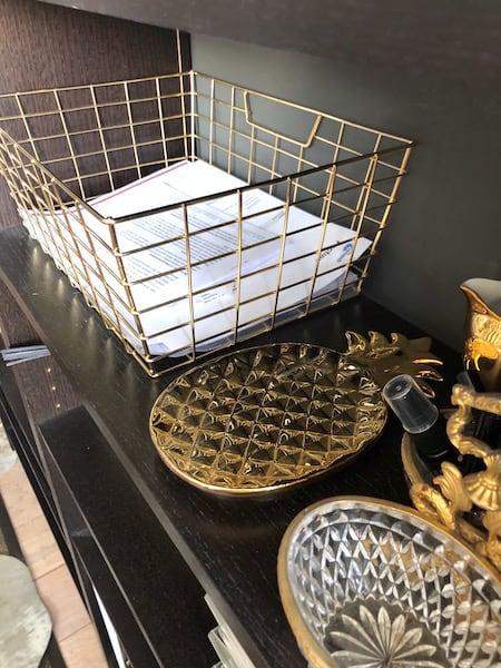 gouden draadmand-home office
