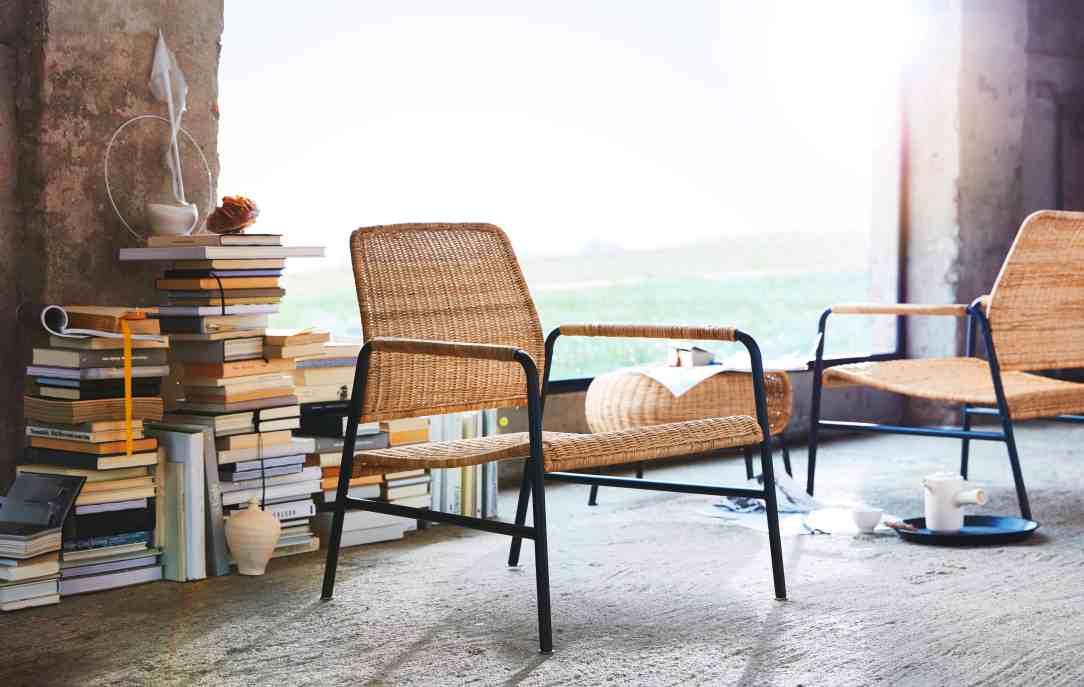 industriële rotan stoel Ikea