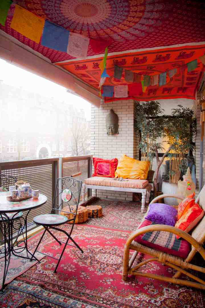 Boho Chic Balcony Amsterdam