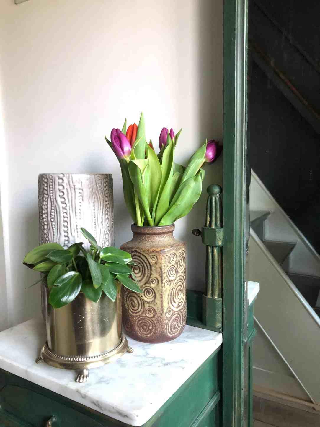 Milieuvriendelijk interieur- vintage vazen