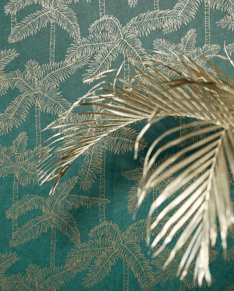Eijffinger-behang-groen-en-goud