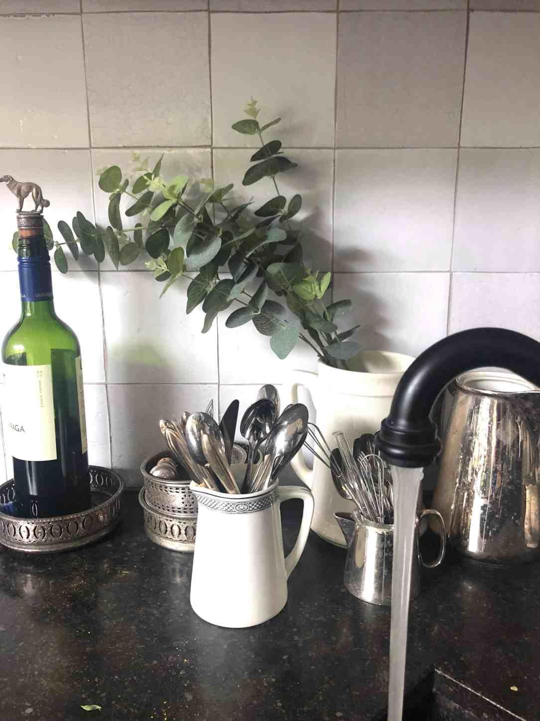 Fake plantentak in de keuken