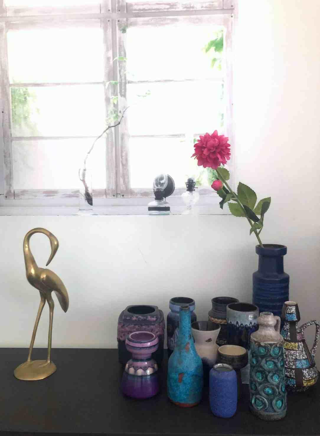Fake bloem- vintage vazen