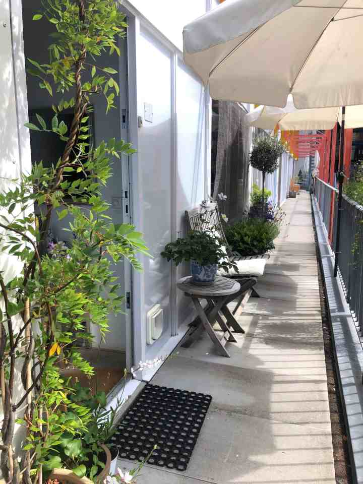 wonen op 55 m2-mini tuintje