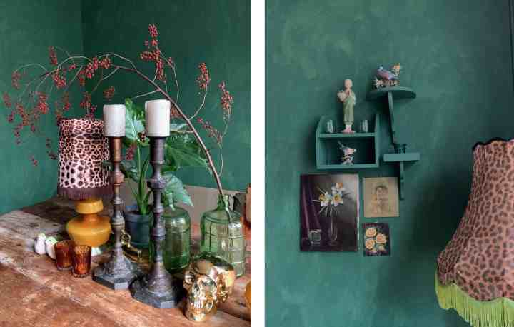 collage-groene kamer