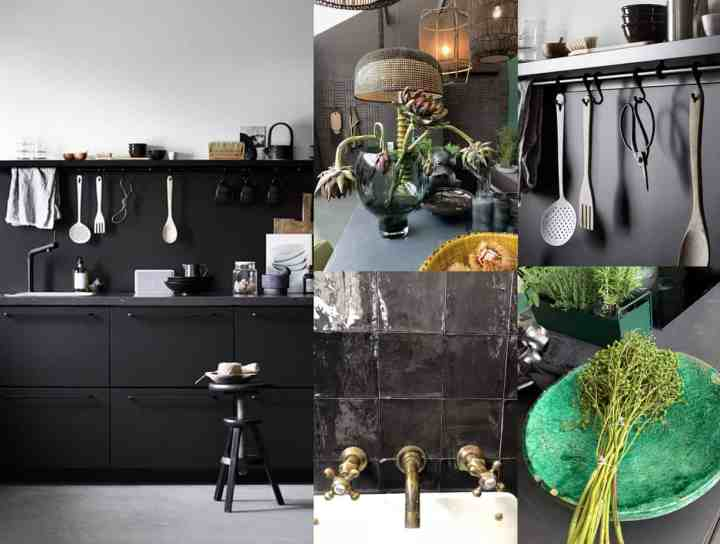 zwarte keuken-droomhuis