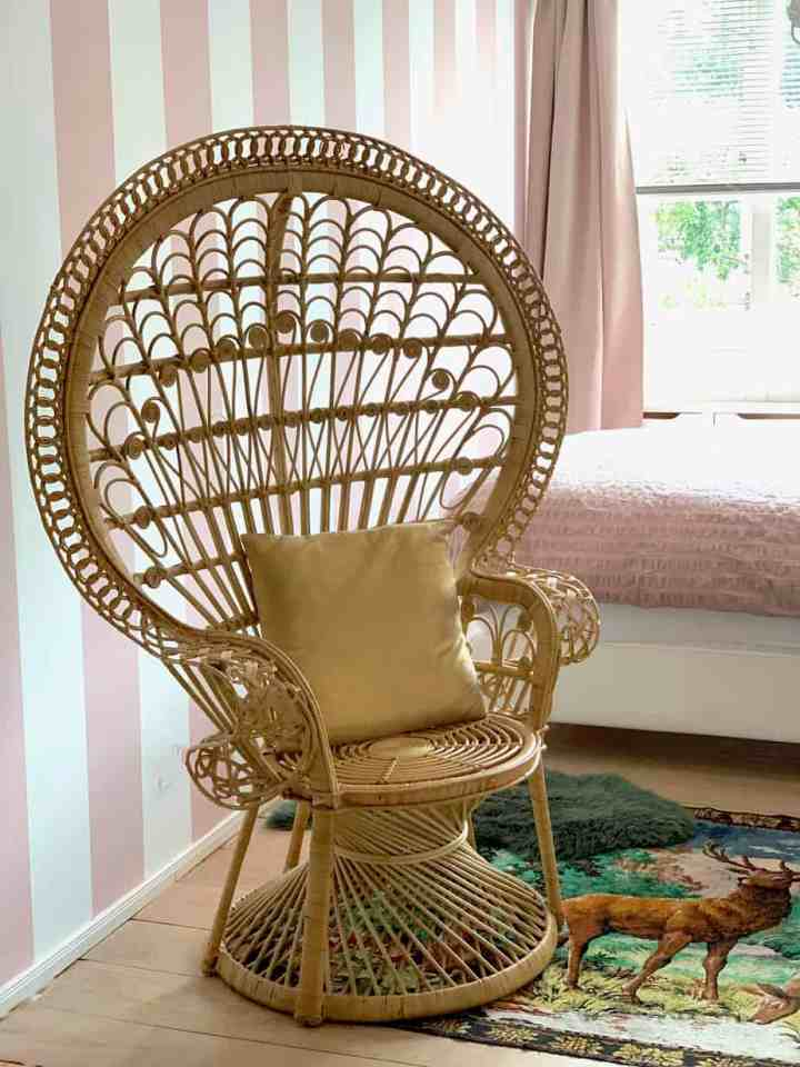 Rieten Peacock Chair