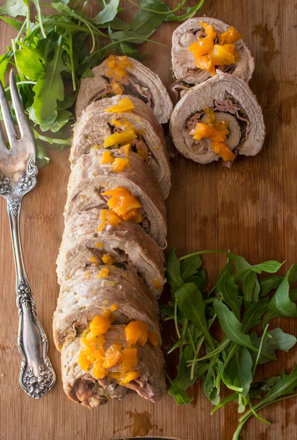 Rollè Italian Stuffed Flank Steak, the perfect family dinner meal recipe, an easy baked stuffed meat dish. Delicious Italian.