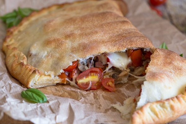 calzone cut open