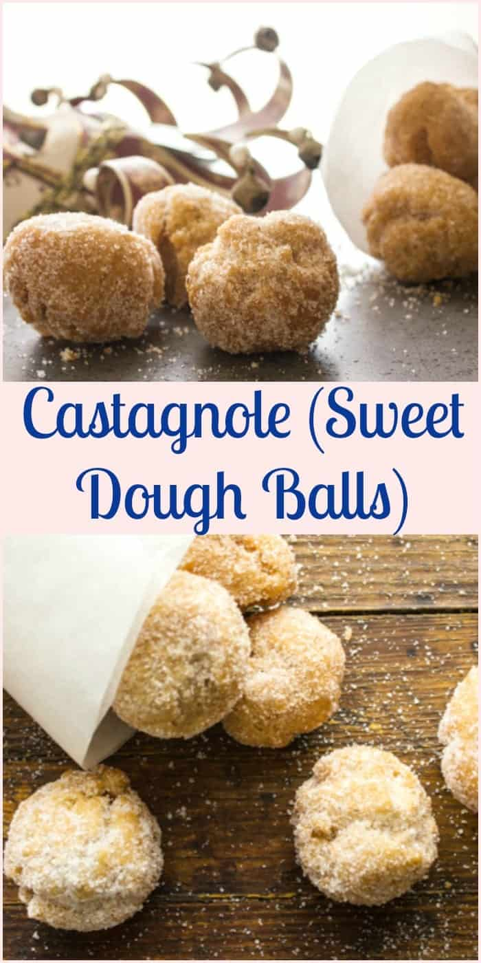Castagnole (sweet dough balls) a delicious Italian Carnival recipe. Soft on the inside and crunchy on the outside. Yummy and perfect.