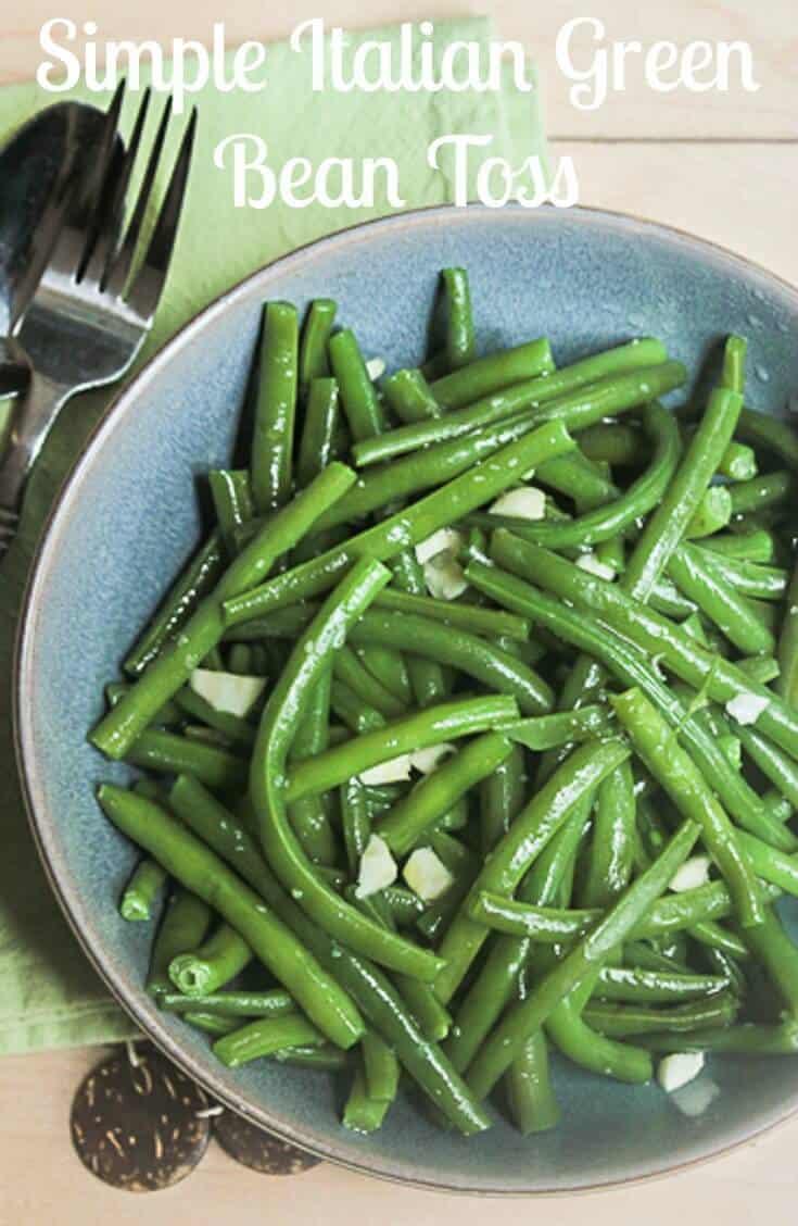 Simple italian green bean toss for Green italy