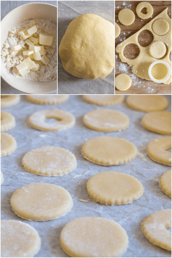 occhio di bue how to make making the dough and cutting out the cookies
