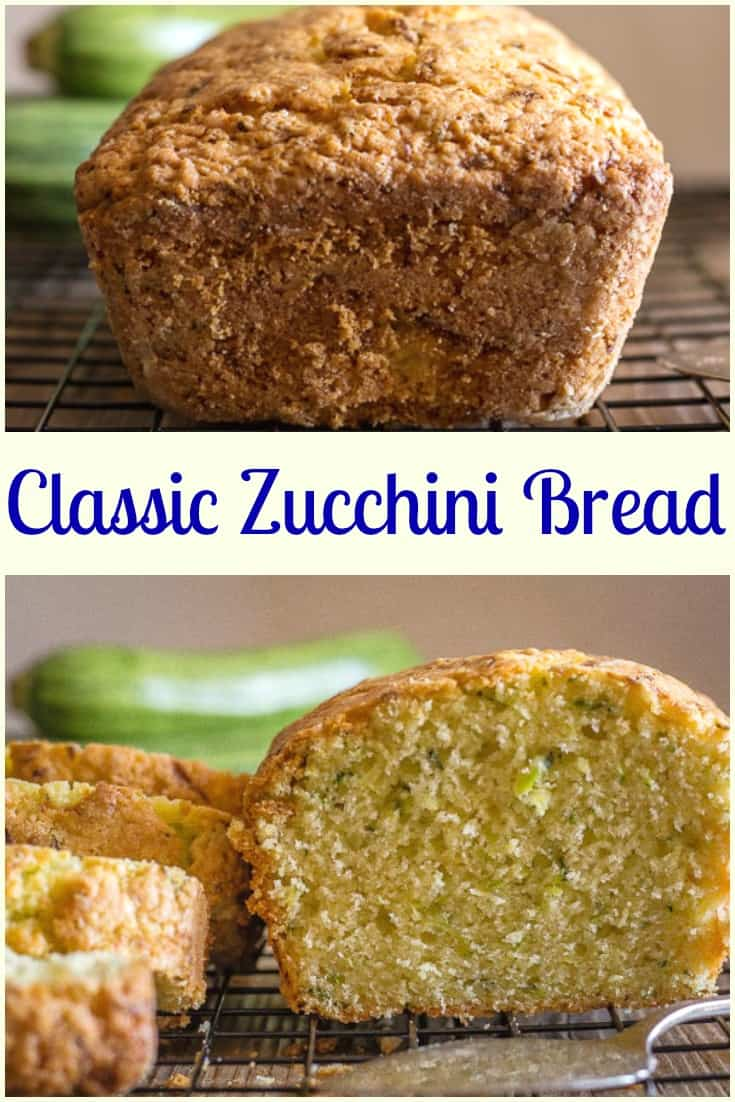 Classic Zucchini Loaf is a simple, easy and delicious zucchini bread. Perfect for Breakfast, snack or even dessert. Everyone will love it.