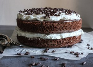Nutella Chocolate Layer Cake, an easy layer cake dessert, the perfect birthday, valentine's day or any day cake recipe. Decadent and delicious.|anitalianinmykitchen.com