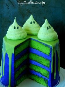 ghost slime cake