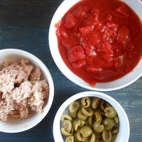 tuna and olive rigatoni
